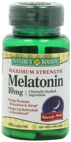 Recompensa máxima resistencia melatonina 10mg cápsulas de la naturaleza, 60-Conde
