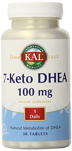 KAL 7-Keto DHEA suplemento, 100 mg, 30 cuenta