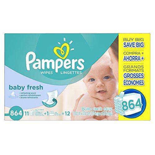 Pampers Baby Fresh toallitas caja, cuenta de 864