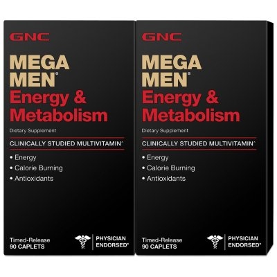 GNC Mega Men Energía y Metabolismo Multivitaminas - 180 ct.