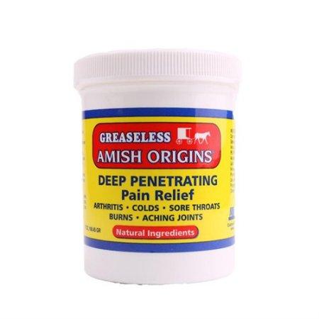 Amish Orígenes Grasa penetrante profundo alivio del dolor Ungüento - 3.5 Oz