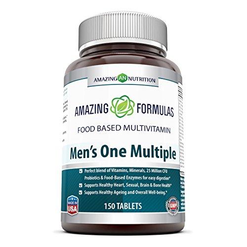Increible uno de nutrición los hombres varias 150 fichas - una tableta de increíble uno hombres nutrición multivitamínico basado de múltiples alimentos puede servir como una gran vía para aportar nutrientes que el cuerpo de un hombre debe permanecer sanos