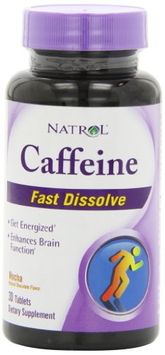 Tabletas de Natrol cafeína 100 Mg dieta suplemento, Mocha, cuenta de 30.