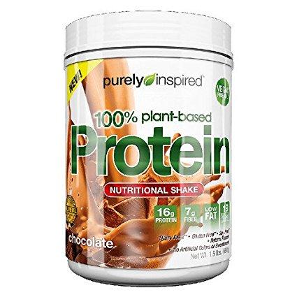 Inspirado 100% de proteína vegetal basado Nutritional Shake Chocolate 24 oz