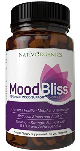 Suplemento de humor de tensión soporte de alivio y ánimo - para aliviar el estrés, Anti ansiedad humor y suplemento potenciador para alivio de ansiedad Natural con vitamina B12, 5 HTP y Ashwagandha - repleto de hierbas para la ansiedad, haz un impulso de