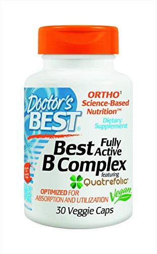 El médico mejor activo complejo B suplemento alimenticio, cuenta 30
