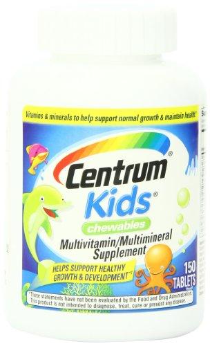 Centro infantil tabletas masticables, cuenta 150
