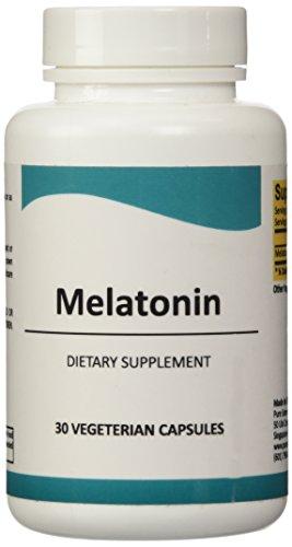 Melatonina, Vegano cápsulas, alta calidad - antioxidante, libre de drogas dormir ayuda corrige durmiendo patrón Irregular, apoyo del estado de ánimo, reducir dolores de cabeza crónicos, relajarse músculo 30 vcaps
