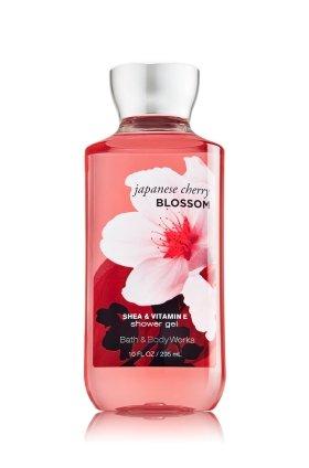 Baño y cuerpo funciona karité enriquecida Gel de ducha nuevo mejorada fórmula 10 oz. (flor de cerezo japonés)