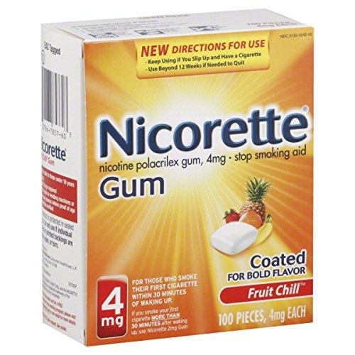 Chicles Nicorette 100-PK - frutas (4 mg)