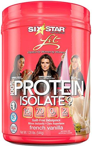 Seis estrellas Fit Lean proteína mezcla, vainilla francesa, 1,2 libras (embalaje puede variar)