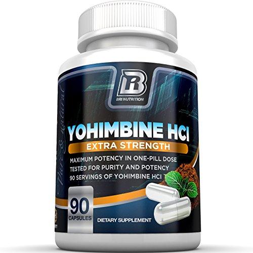 BRI nutrición yohimbina HCl - 90 cuenta 2,5 mg Yohimbie cápsulas