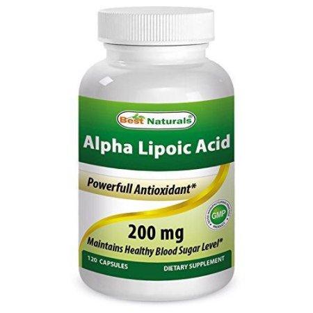 Best Naturals ácido alfa lipoico 200 mg 120 Cápsulas