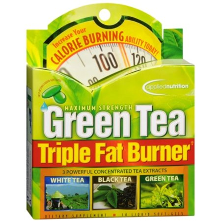 APPLIED NUTRITION Green Tea Fat Burner triples Liquid Cápsulas Blandas de 30 geles suaves (paquete de 4)