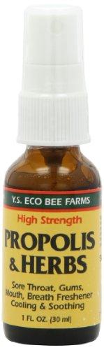 Spray de propóleo y hierbas garganta Spray YS Eco apiarios de 1 oz