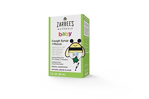 De Zarbee Baby jarabe para la tos y moco reductor, sabor de la uva, 2 onzas de líquido