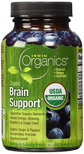 Irwin Naturals orgánicos cerebral apoyo dieta suplemento, cuenta 60