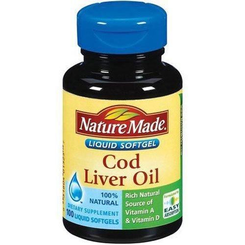 Nature Made 100 cápsulas líquidas - aceite de hígado de bacalao