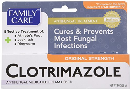 Familia cuidado Anti clotrimazol crema fungicida, 1% USP comparar a Lotrimin 1 onza (paquete de 3)