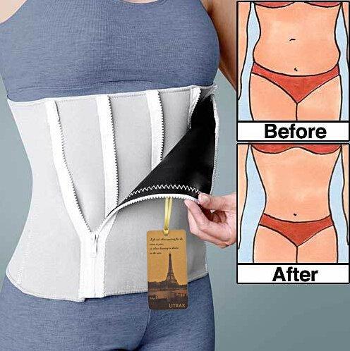 """25""""- 45"""" cintura neopreno 6 cremallera ajustable peso pérdida adelgazar cinturón cintura Trimmer"""