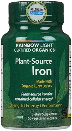 Luz de arco iris certificados orgánicos planta-fuente hierro V-Caps, cuenta 50