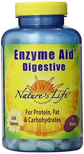 Vida enzima ayuda digestiva comprimidos de la naturaleza, cuenta 250
