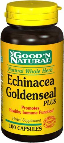Buena y Natural - Echinacea y Goldenseal 450 mg. - 100 cápsulas antes y