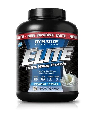 Nutrición de Dymatize Elite Whey proteína polvo, Gourmet vainilla, 5 libras