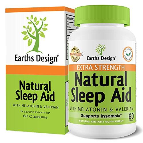 Píldoras de ayuda de sueño natural, 100% Herbal, no hábito somnífero para el insomnio y la apnea del sueño, con valeriana, melatonina, manzanilla y Pasiflora, dormirse rápido y dormir ya - 60 cápsulas