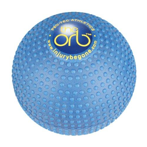 Pro-Tec atletismo la alta densidad de tejido profundo orbe masaje azul bola, diámetro de 5 pulgadas,