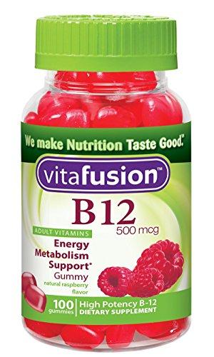 Vitafusion B12 gomoso, cuenta 100 (paquete de 3)