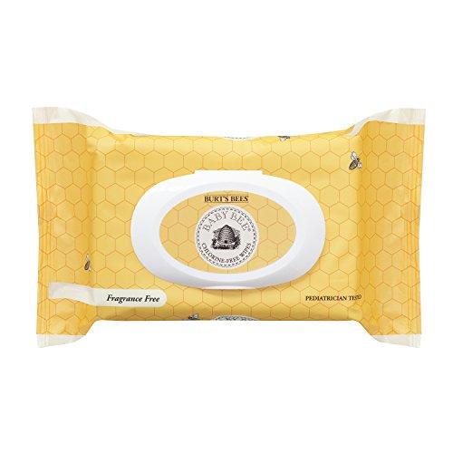 Abejas bebé abeja libre de cloro toallitas de Burt, cuenta 72, paquete de 1