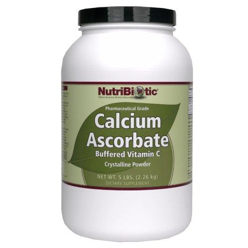 Polvo de ascorbato de calcio Nutribiotic, 5 libras