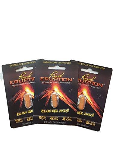 Erupción real vegano Natural potenciador del rendimiento Sexual masculino de la píldora (Pack 3)