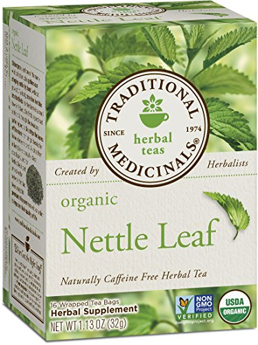 Medicinales tradicionales té de hoja de ortiga orgánica, 16 bolsas de té (paquete de 6)
