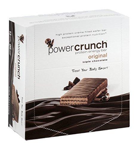 Potencia Crunch Triple Chocolate, barra de 1,4 onzas, cuenta 12
