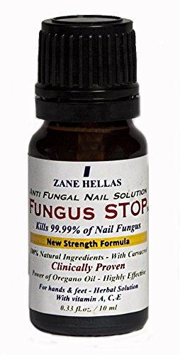 Hongo de parada. Mata el 99,9% de hongos en las uñas. Anti hongos tratamiento uñas. Uñas de los pies y tratamiento de las uñas. 0,33 oz - 10 ml