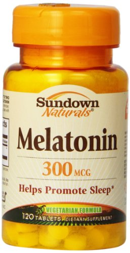 Sundown Naturals melatonina, 300 mcg, tabletas, 120 tabletas