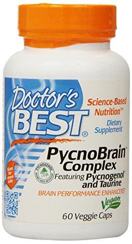 Mejor Pycnobrain complejo del doctor con Pycnogenol y cápsulas taurina, cuenta 60