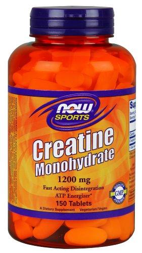 Ahora alimentos creatina monohidrato tabletas 1200 mg, cuenta 150
