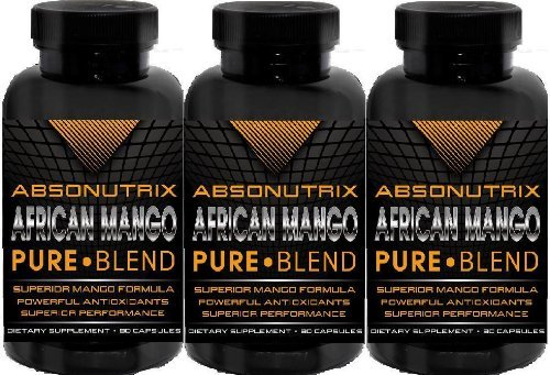 3 botellas - Absonutrix Mango africano puro - 270 que adelgaza cápsulas Total - la fórmula de pérdida de peso más eficaz disponible hoy!