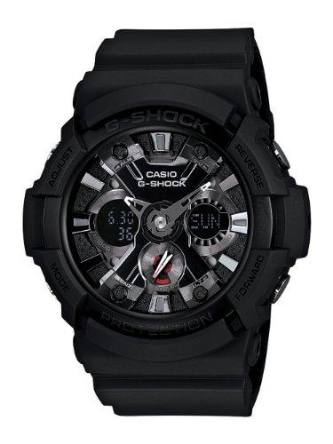 Casio GA201-1 G-Shock a prueba de golpes deporte ver hombres con la banda de resina negro