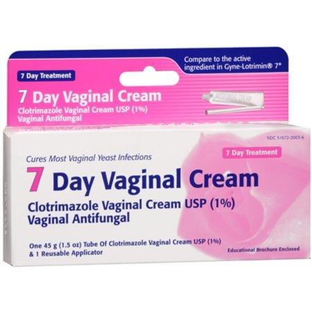 Clotrimazole 7 dentro de la vagina Cream 45 g (Pack de 2)