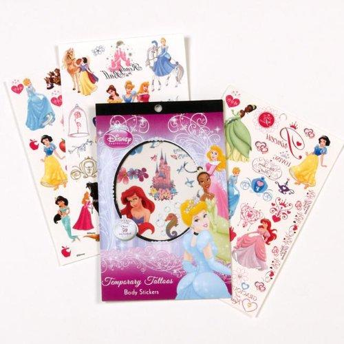 Disney princesa sobre 50 tatuajes temporales