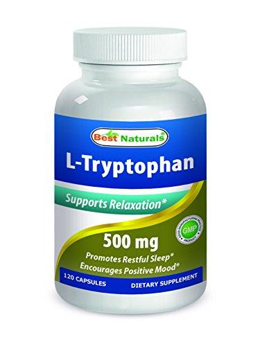 L-triptófano 500 mg 120 Caps por los mejores productos naturales - productos naturales de todo dormir ayuda suplemento--fabricado en un E.e.u.u. base GMP certificada la facilidad y tercero prueba de pureza. Garantizado!!!!