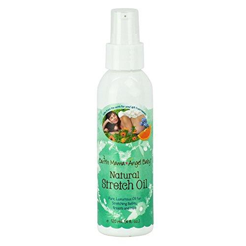 Mama tierra Angel Baby aceite estiramiento Natural, botella de 4 onzas