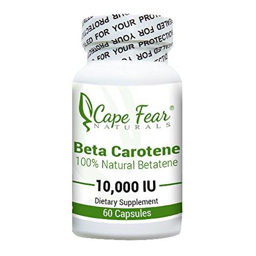 Miedo del cabo Naturals - betacaroteno - antioxidante-60 cápsulas, 10,000 UI cada (suministro de 2 meses)
