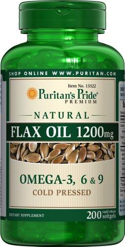 Pride aceite lino Natural 1200 mg-200 cápsulas de Puritan
