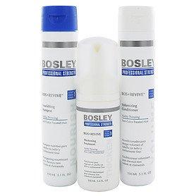 Bosley revivir Starter Pack de adelgazamiento visiblemente y cabello teñido no