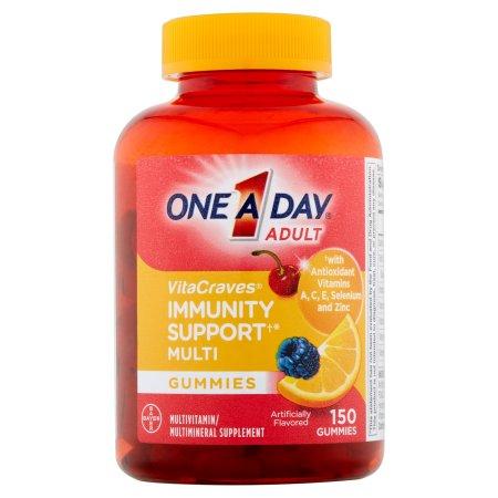 One A Day VitaCraves - Inmunidad apoyo de los adultos multivitamínicos Gomitas 150 ct